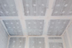 Ceiling gypsum board of house at building site Stock Photography