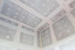 Ceiling gypsum board of house at building site Stock Photos
