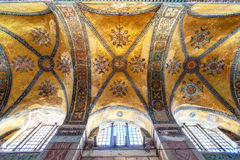 The ceiling of the Hagia Sophia in Istanbul, Turkey. The ceiling of the Hagia Sophia on May 25, 2013 in Istanbul, Turkey. Hagia Sophia is the greatest monument stock image