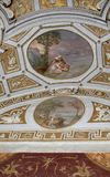Ceiling in hall. Vatican museums Stock Images