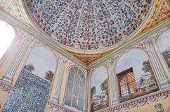 Ceiling of Harem, Istanbul. ISTANBUL, TURKEY - OCTOBER 13, 2014 : Harem at Topkapi Palace Stock Photo