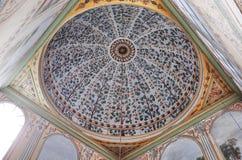 Ceiling of Harem, Istanbul. ISTANBUL, TURKEY - OCTOBER 13, 2014 : Harem at Topkapi Palace Stock Image