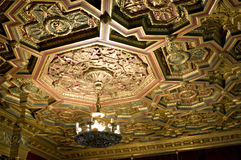 Ceiling, Hearst Castle. Picture of the intricate ceiling of Hearst Castle California USA royalty free stock photography