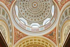 Ceiling of Helsinki University Library. The interior of the dome ceiling of Helsinki University Library stock photos
