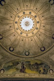 Ceiling of Historic Theater in Montevideo, Uruguay. Details of the ceiling of the The Solis Theater in the historic downtown district of the Uruguay's capital Royalty Free Stock Image