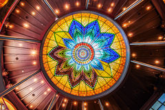 Ceiling of a historical building that houses a Sting shop in The Hague, Netherlands Royalty Free Stock Photography