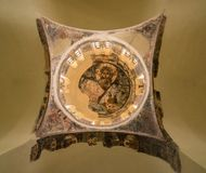 Ceiling of Holy Apostles of Solaki church in Greek Agora royalty free stock photo