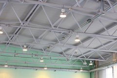 The ceiling of the indoor gym Stock Image