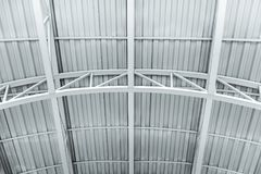 Ceiling of industrial building. metal structure of warehouse roof. Ceiling of the industrial building. metal structure of warehouse roof stock images