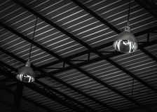 Ceiling of industrial storehouse Royalty Free Stock Images
