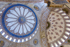 Ceiling inside the Blue Mosque in Sultanahmet, Istanbul, Turkey. Stock Photo
