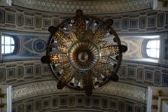 Ceiling inside Holy Trinity Alexander Nevsky Lavra, church in Saint Petersburg, Russia Stock Photography