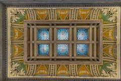 The ceiling inside the Library of Congress. Inside the Library of Congress in Washington DC Stock Images