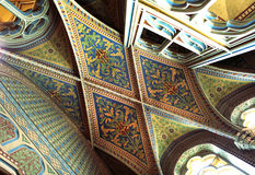 Ceiling inside Matthias church, Budapest, Hungary Stock Photography