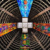 Ceiling inside the metropolitan cathedral. The church is dedicated to Saint Sebastian, the patron saint of Rio de Janeiro Stock Photo