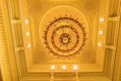 The ceiling inside the mosque in Dubai Stock Photography
