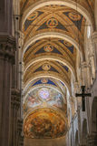 Ceiling of the interior view of Lucca Cathedral. Cattedrale di San Martino. Tuscany. Italy. royalty free stock image