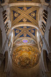Ceiling of the interior view of Lucca Cathedral. Cattedrale di San Martino. Tuscany. Italy. Italy, Lucca - September 18 2016: the view of the ceiling on the Royalty Free Stock Photo
