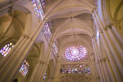 Interiors of Cathedral of Toledo royalty free stock photo