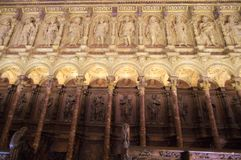 Interiors of Cathedral of Toledo royalty free stock image