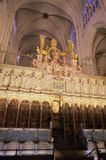 Interiors of Cathedral of Toledo stock image