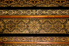 Ceiling with intricate patterned details of moorish arabian orig. Ceiling with sculpted intricate details of moorish arabian origin / influence, astonishing royalty free stock image