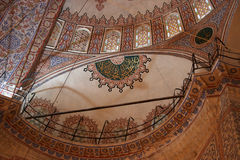 Ceiling with islamic patterns Stock Image