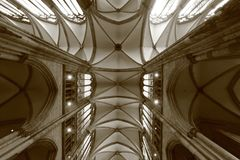 The Ceiling of Kölner Dom - The Dom is Germany's largest cathedral - GERMANY. Cologne Cathedral is a Catholic cathedral in Cologne, North Rhine stock photos