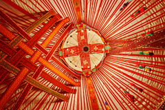 Ceiling of Kazakhstan Yurt Stock Image