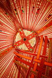 Ceiling of Kazakhstan Yurt. Wide angle view of the ceiling of a Kazakhstan Yurt Stock Photos
