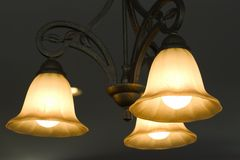 Ceiling lamp. Turned on royalty free stock images