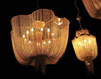 chandelier ceiling lamp pendant light lighting Royalty Free Stock Photos
