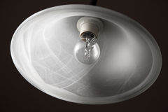Ceiling lamp and bulb. Simple looking, but patterned ceiling lamp and bulb Stock Images
