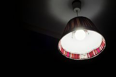 Ceiling lamp with colorful decorations Stock Photo