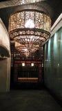 Ceiling lamp in dark night royalty free stock photos