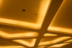 Ceiling with lamp. In a fancy room royalty free stock image