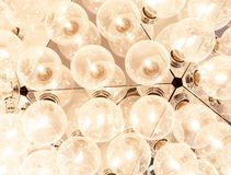 Ceiling lamp with many lightbulbs Royalty Free Stock Image