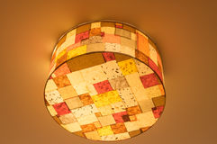 Ceiling lamp, tartan Stock Photography