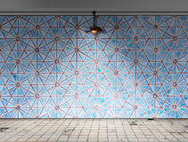 Ceiling lamp in tile room Royalty Free Stock Photo