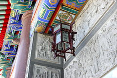 Ceiling lamp. Wood chinese style ceiling lamp Royalty Free Stock Photography