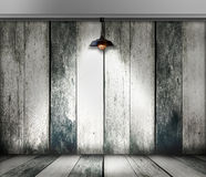 Ceiling lamp in wood room royalty free stock photography