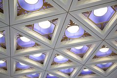 Ceiling with lamps Stock Photos
