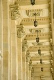 Ceiling, lamps and columns Royalty Free Stock Photos