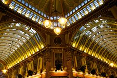 Ceiling in Leadenhall market in London, UK Stock Photography