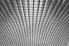 Ceiling of liege train station in Liege Belgium,bl Stock Image