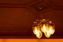 Ceiling light beautiful shape Royalty Free Stock Photos