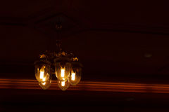 Ceiling light beautiful shape Royalty Free Stock Images
