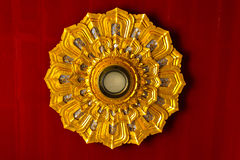 Ceiling light decoration of thai temple Royalty Free Stock Image