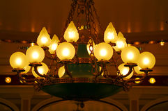 Ceiling Light Fitting. An old brass light fitting royalty free stock photos