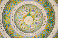 Ceiling Light with graphic art Stock Images